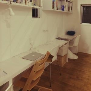 Natsukoのお部屋写真 about My Desk 無印良品 照明 窓 IKEA 加湿器 Mac 北欧 パントンチェア アントチェア ストッケ プラマイゼロ RoomClip インテリア実例集 RoomClip ルームクリップ