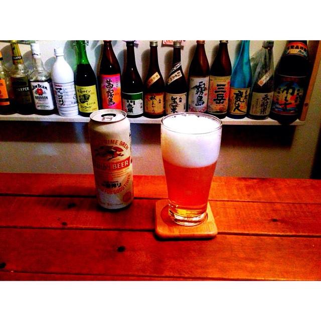 今夜の宅飲みまずはビールから。  #ひとり酒  #ひとり飲み  #一番搾り